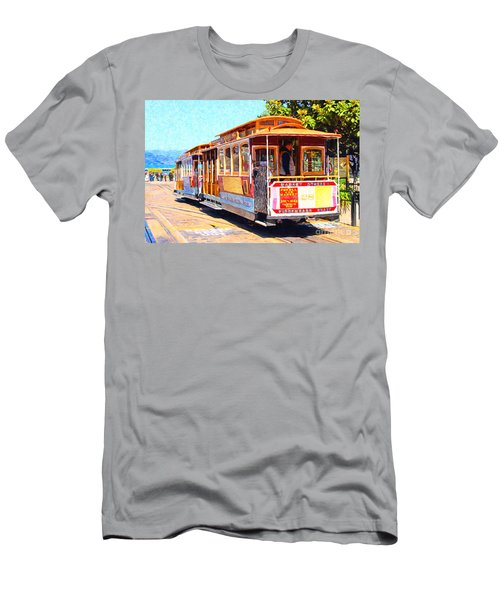 San Francisco Cablecar At Fishermans Wharf . 7d14097 Men's T-Shirt (Athletic Fit)