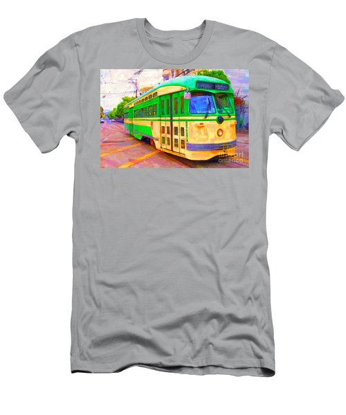 San Francisco F-line Trolley Men's T-Shirt (Athletic Fit)