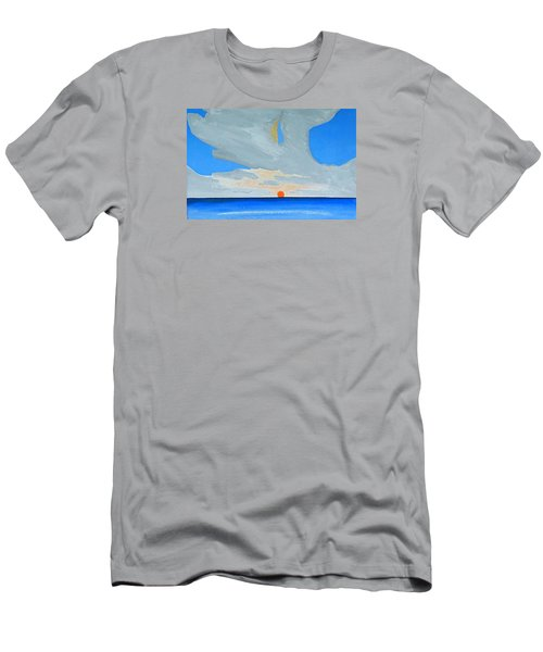 Men's T-Shirt (Slim Fit) featuring the painting San Juan Sunrise by Dick Sauer