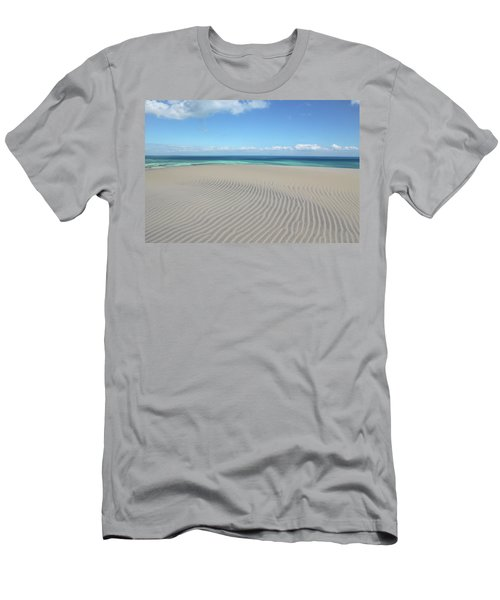 Sand Dune Ripples And The Ocean Beyond Men's T-Shirt (Athletic Fit)