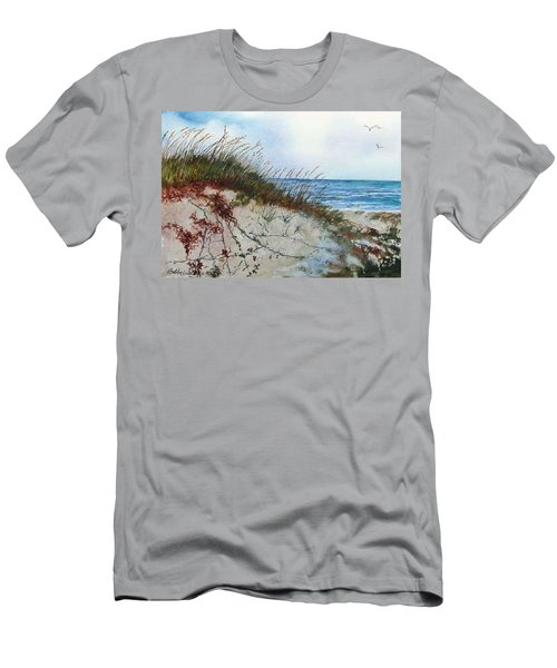 Sand Dunes And Sea Oats Men's T-Shirt (Slim Fit)