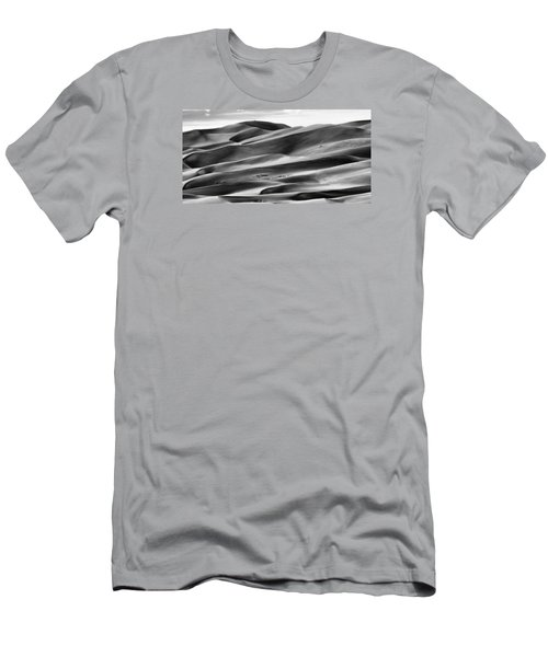 Men's T-Shirt (Slim Fit) featuring the photograph Sand Dunes And Shadows by Monte Stevens