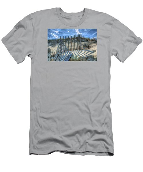 Sand Fence Men's T-Shirt (Slim Fit) by Greg Reed