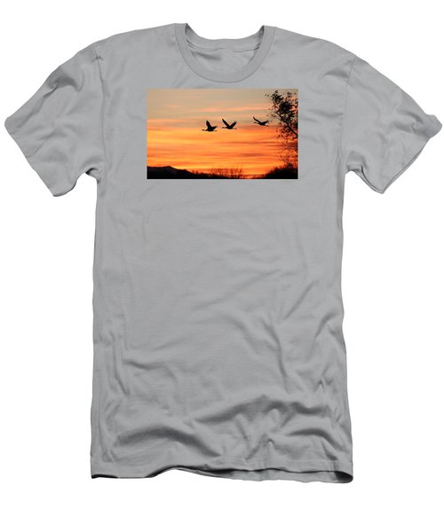 Sandhill Sunrise Men's T-Shirt (Athletic Fit)