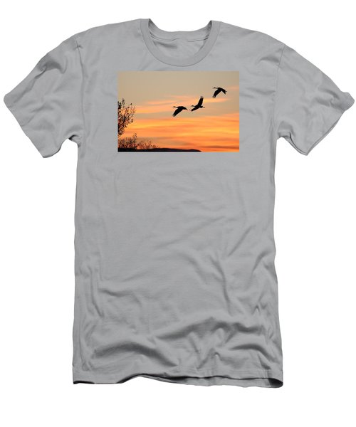 Sandhill Sunrise Three Men's T-Shirt (Athletic Fit)