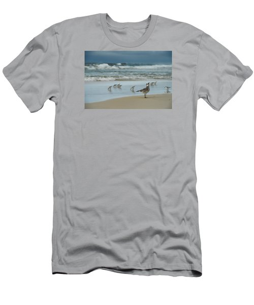 Men's T-Shirt (Slim Fit) featuring the photograph Sandpiper Beach by Renee Hardison