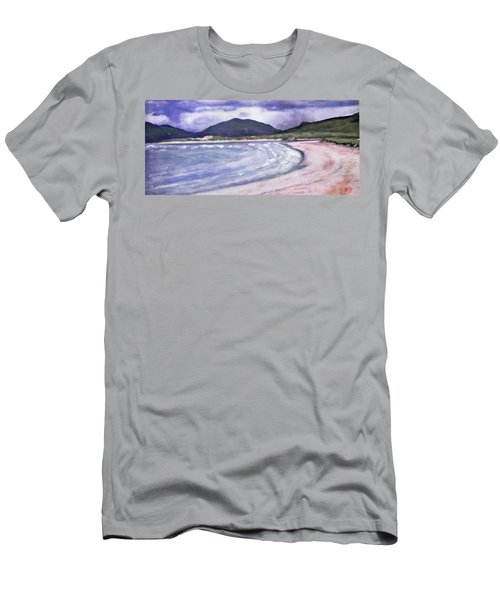 Men's T-Shirt (Slim Fit) featuring the painting Sands, Harris by Richard James Digance