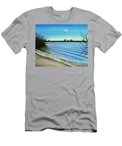 Sandy Beach Men's T-Shirt (Athletic Fit)