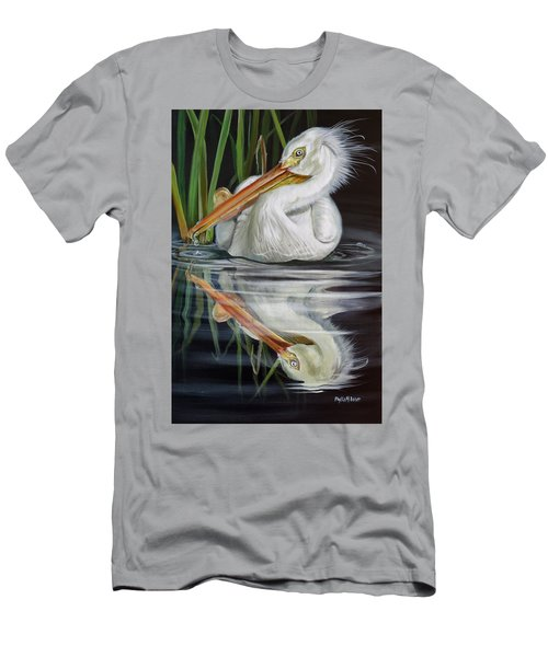 Sandy's Pelican Men's T-Shirt (Slim Fit) by Phyllis Beiser