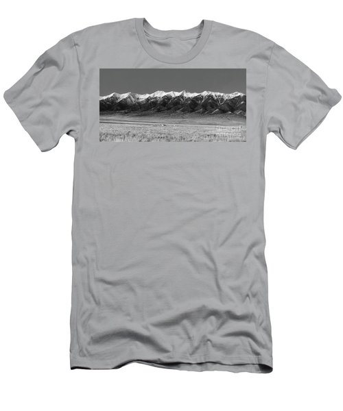 Sangre De Cristos  Dusk In Black And White Men's T-Shirt (Athletic Fit)