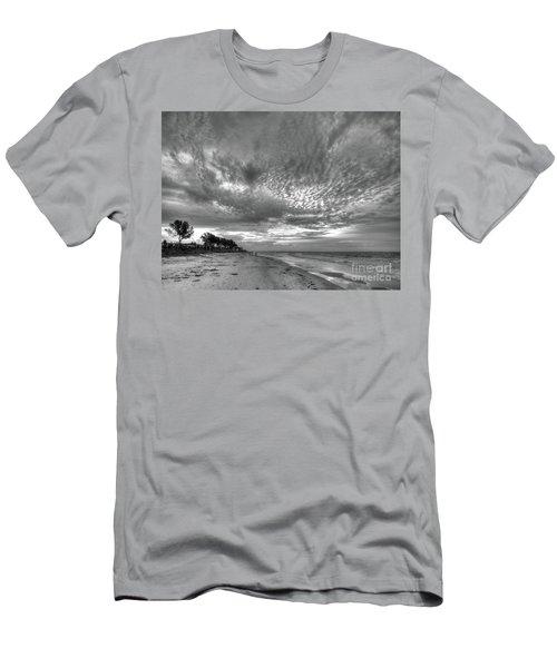 Sanibel Island Sunrise In Black And White Men's T-Shirt (Athletic Fit)