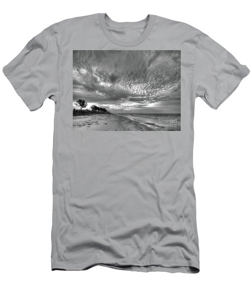 Sanibel Island Sunrise In Black And White Men's T-Shirt (Athletic Fit)