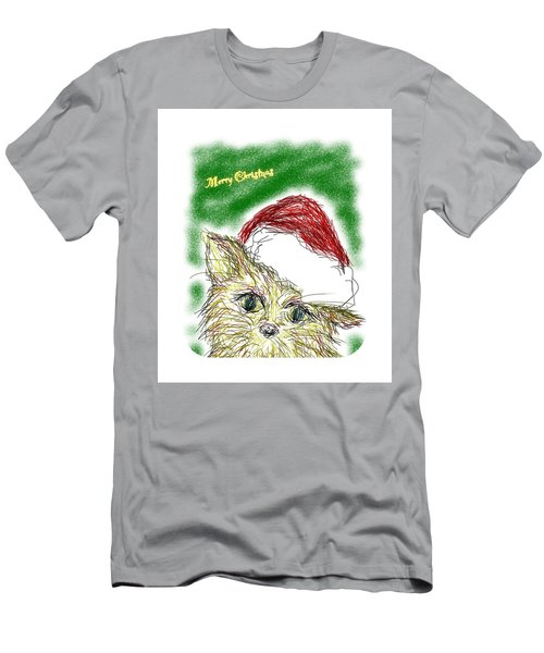 Santa Cat Men's T-Shirt (Athletic Fit)