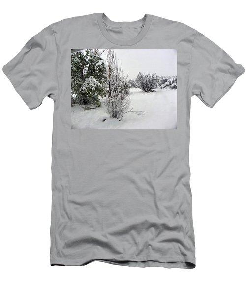 Santa Fe Snowstorm 2017 Men's T-Shirt (Slim Fit) by Joseph Frank Baraba