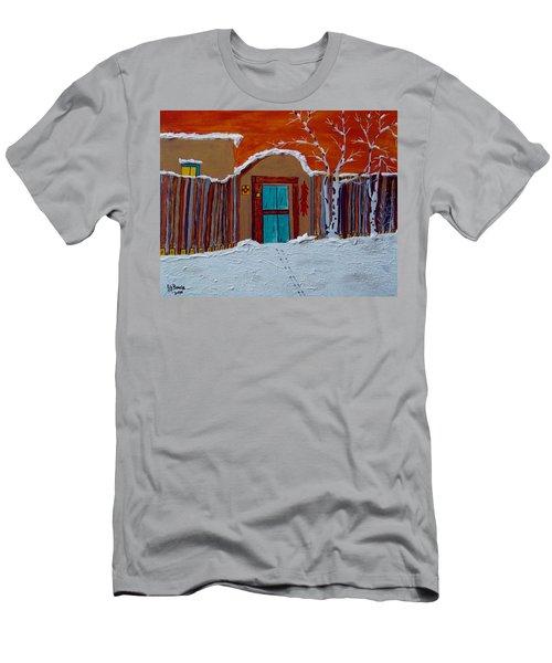 Santa Fe Snowstorm Men's T-Shirt (Slim Fit) by Joseph Frank Baraba
