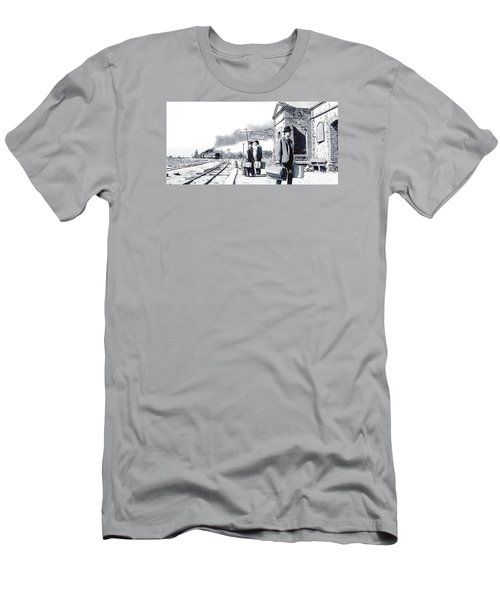 Santa Ines Station Men's T-Shirt (Athletic Fit)