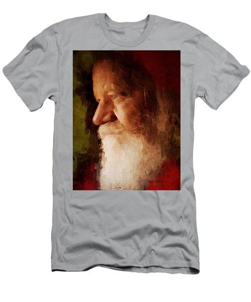 Men's T-Shirt (Slim Fit) featuring the digital art Santa by Lisa Noneman