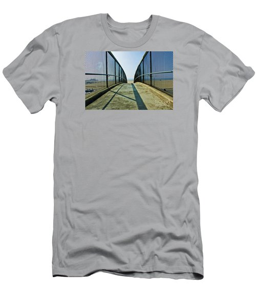 Santa Monica Beach California Men's T-Shirt (Slim Fit) by Micah May