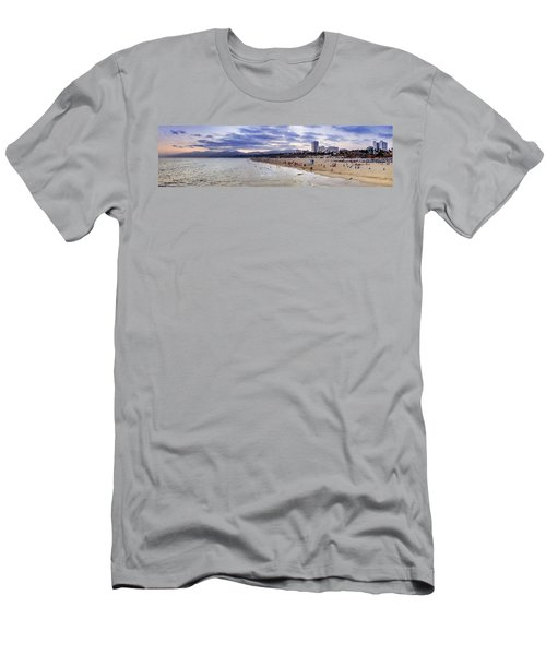 Santa Monica Sunset Panorama Men's T-Shirt (Athletic Fit)