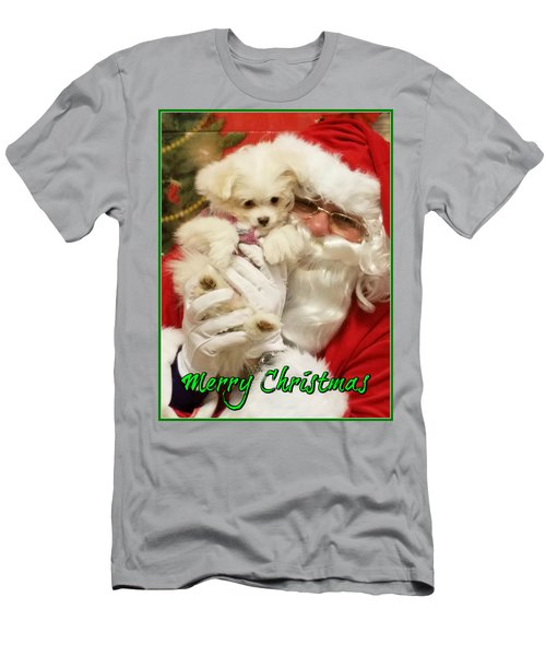 Santa Paws  Men's T-Shirt (Athletic Fit)