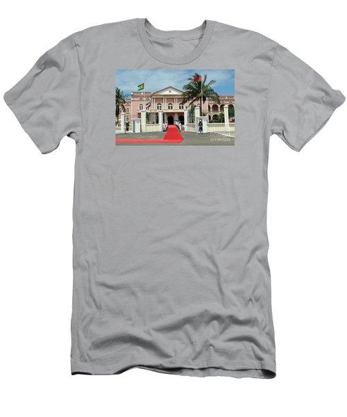 Sao Tome City Hall Men's T-Shirt (Slim Fit) by John Potts