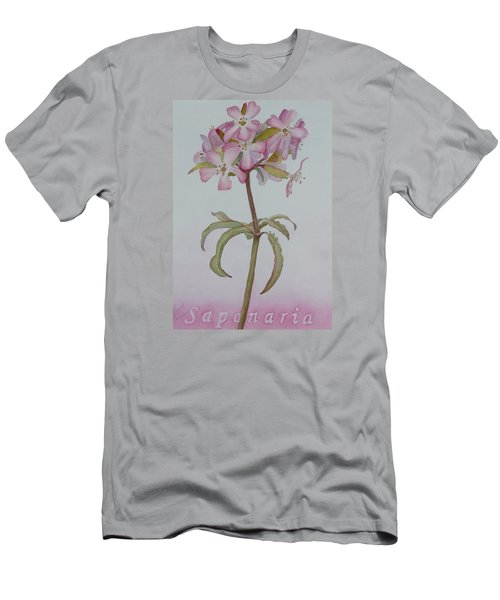 Saponaria Men's T-Shirt (Slim Fit) by Ruth Kamenev