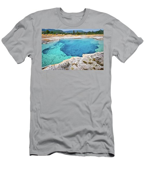 Sapphire Pool, Biscuit Basin Men's T-Shirt (Athletic Fit)