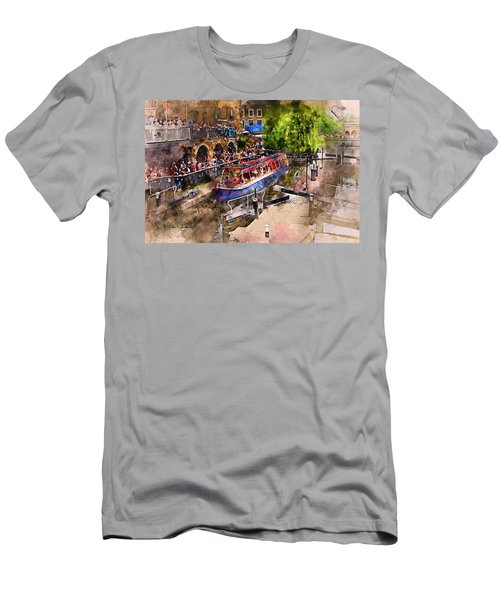 Saturday Afternoon At Camden Lock Men's T-Shirt (Slim Fit) by Nicky Jameson