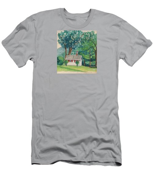 Sauna At Murray Hollow Men's T-Shirt (Slim Fit) by Fred Jinkins