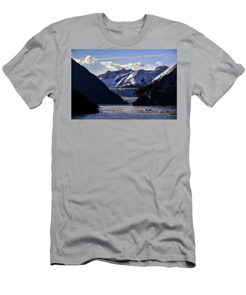 Sawyer Glacier In Tracy Arm Fjord Men's T-Shirt (Athletic Fit)