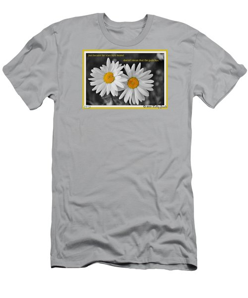 Men's T-Shirt (Slim Fit) featuring the digital art Scars Have Healed by Holley Jacobs
