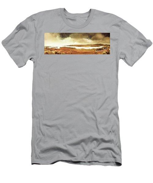 Scenic Southwest Tasmania Lakes Men's T-Shirt (Athletic Fit)