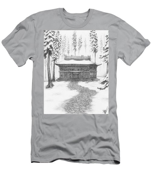 School In The Snow Men's T-Shirt (Athletic Fit)