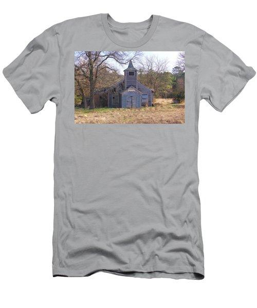 Men's T-Shirt (Slim Fit) featuring the photograph Schoolhouse#3 by Susan Crossman Buscho