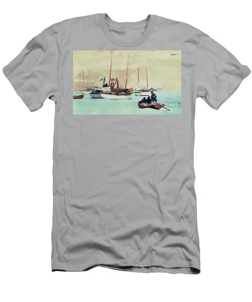 Schooners At Anchor In Key West Men's T-Shirt (Athletic Fit)