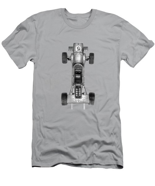 Men's T-Shirt (Slim Fit) featuring the photograph Schuco Matra Ford Top Bw by YoPedro
