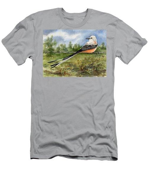 Scissor-tail Flycatcher Men's T-Shirt (Slim Fit) by Sam Sidders