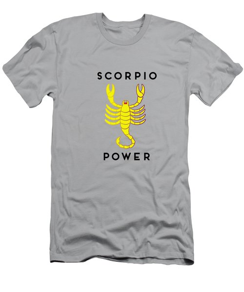 Men's T-Shirt (Athletic Fit) featuring the digital art Scorpio Power by Judy Hall-Folde