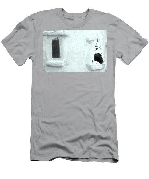 Scream Wall Men's T-Shirt (Slim Fit) by Jez C Self