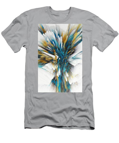 Men's T-Shirt (Athletic Fit) featuring the painting Sculptural Series Digital Painting 08.072311ex490l by Kris Haas