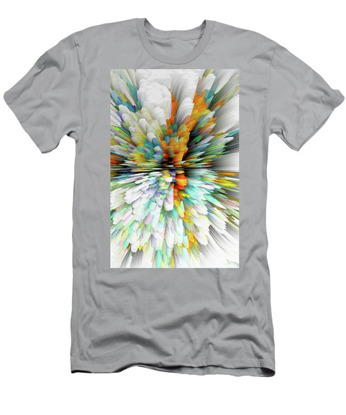 Men's T-Shirt (Athletic Fit) featuring the digital art Sculptural Series Painting23.102011windblastsccvsext4100l by Kris Haas