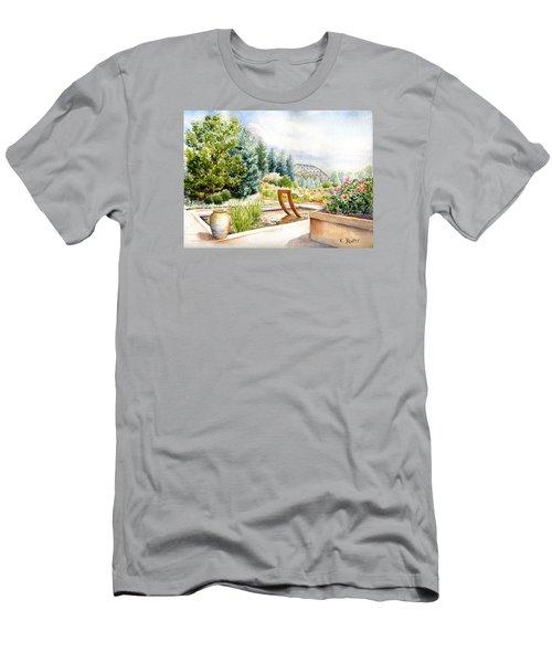 Sculpture Pool At Denver Botanic Gardens Men's T-Shirt (Athletic Fit)