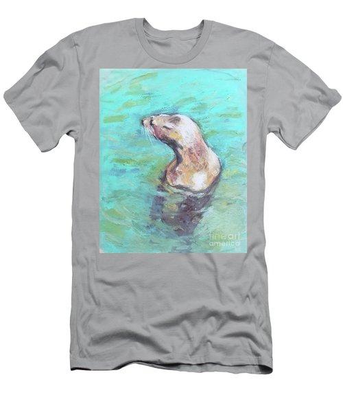 Sea Lion Men's T-Shirt (Slim Fit) by Yoshiko Mishina