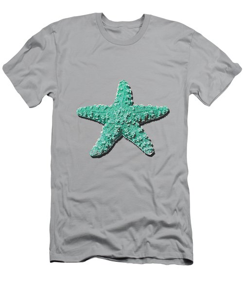 Men's T-Shirt (Slim Fit) featuring the photograph Sea Star Aqua .png by Al Powell Photography USA