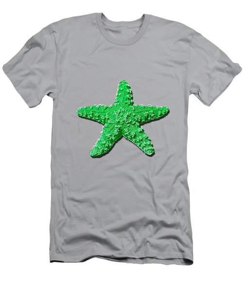 Men's T-Shirt (Slim Fit) featuring the photograph Sea Star Green .png by Al Powell Photography USA