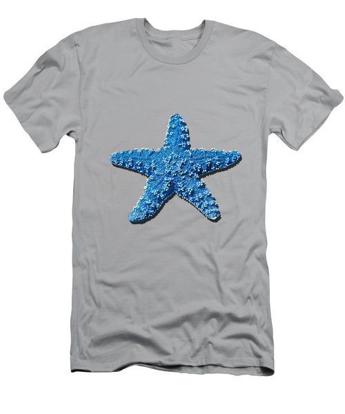 Men's T-Shirt (Slim Fit) featuring the photograph Sea Star Medium Blue .png by Al Powell Photography USA