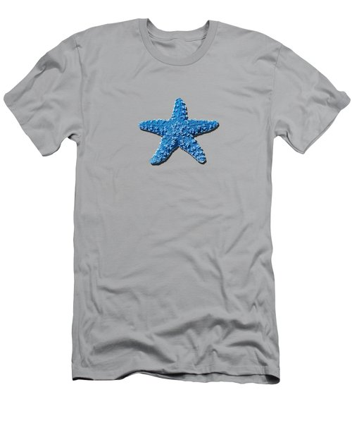 Sea Star Medium Blue .png Men's T-Shirt (Athletic Fit)