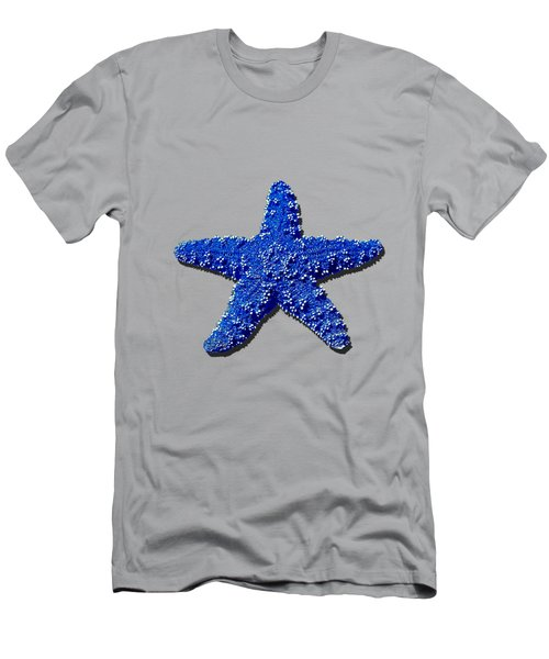Men's T-Shirt (Slim Fit) featuring the photograph Sea Star Navy Blue .png by Al Powell Photography USA