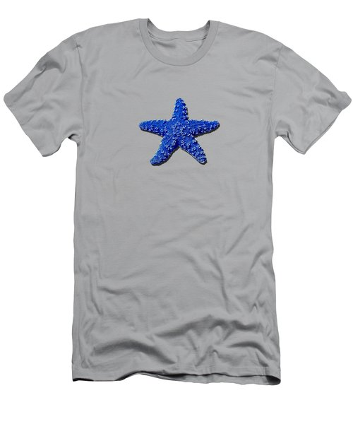 Sea Star Navy Blue .png Men's T-Shirt (Athletic Fit)