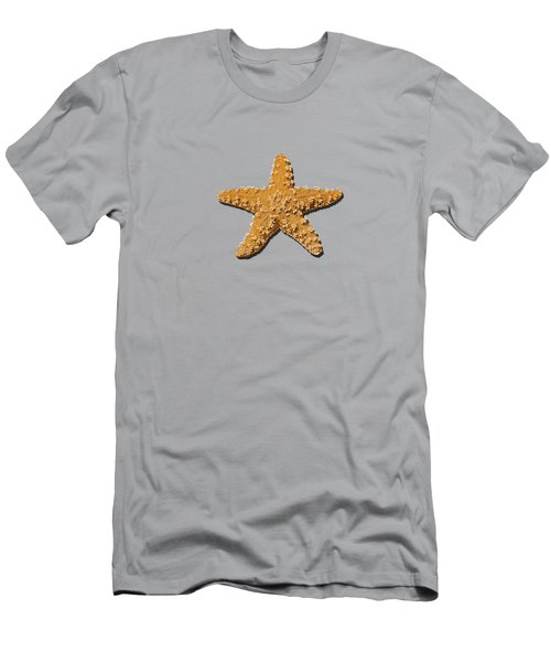Men's T-Shirt (Slim Fit) featuring the photograph Sea Star Orange .png by Al Powell Photography USA